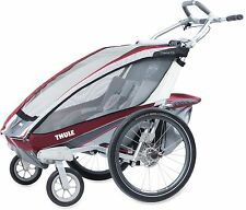 Thule Chariot CX-2 BURGUNDY with Strolling kit Brand New !