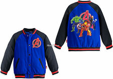 Marvel Avengers Age of  Ultron Varsity Boys Jacket Disney Store 4 5/6 7/8 9/10