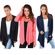 Womens Long Sleeves Cardigan Tops Casual Short Coat Jacket Outfits Loose Sweater