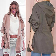 HOT Womens Warm Fashion Hooded Long Coat Jacket Windbreaker Trench Parka Outfits