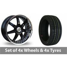 """4 x 18"""" Lenso S73 Black Polished Alloy Wheel Rims and Tyres -  225/40/18"""