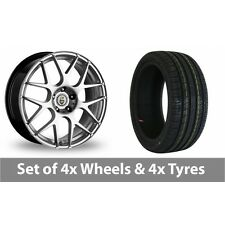 "4 x 18"" Cades Bern Hyper Silver Alloy Wheel Rims and Tyres -  245/45/18"
