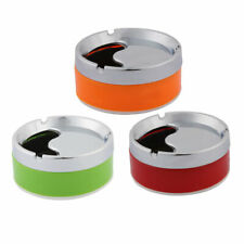 Home Office Cylinder Shape Rotatable Cigarette Holder Case Ashtray Container