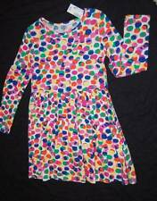 GIRLS SIZE 5 6 OR 7 8 Childrens Place COLORED DOTS LONG SLEEVED DRESS NEW NWT
