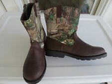NEW Boy YOUTH *4**5**6* REALTREE Camoflauge Country Western Boots Cowboy Camo