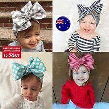 Baby Girl Kid Boho Retro BIG bow knot 80' 70' cotton Hair head band Bandana tie