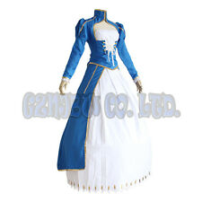 Anime Fate stay night saber women Dress suit Cosplay Costumes halloween outfit