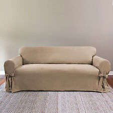 Soft Suede Relax Fit 1-Piece Sofa Slipcover