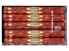 Hem Amber Incense 20-40-60-80-100-120 Sticks You Pick Amount {:-)