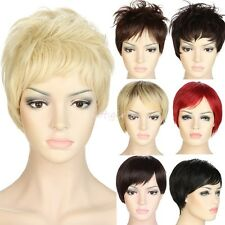Deluxe Short Wigs One Piece Full Head Wig Synthetic Ombre Hair Pixie Boycut ZB