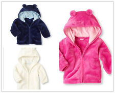 kids baby girls autum winter warm zipper Hooded Coat Outerwear Jacket