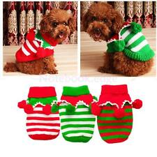 Pet Cat Dog Pup Christmas Party Clothes Knitted Warm Sweater Coat Hoodie Apparel