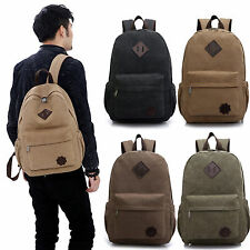 Canvas Men's Vintage Bag Backpacks Rucksack Laptop Shoulder Travel Camping Bags
