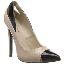 """PLEASER SEXY-22 Women's 5"""" Heel Pointed Toe Cutout Toe And Heel Spectator Pumps"""