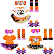 Halloween Baby Toddler Girls Princess Romper Tutu Skirt Pumpkin Outfits Costumes