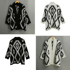 Women Pullover Batwing Sleeve Loose Casual Sweater Cardigan Coat Outwear V2Q1