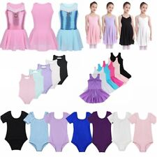 Girls Gymnastic Ballet Dance Dress Leotard Dancewear Toddler Tutu Skirt Costumes