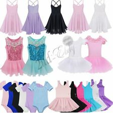 Kids Leotard Ballerina Tutu Skirt Girls Ballet Dress up Party Costume Dancewear