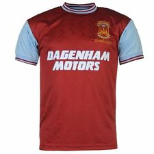 Score Draw Mens West Ham United 1994 Home Shirt Football Short Sleeve Crew Neck