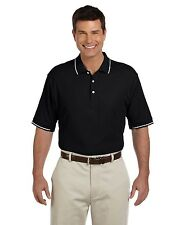 Devon & Jones-Mens Pima Pique Short-Sleeve Tipped Polo-D113