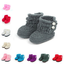 Baby Girl Toddler Soft Shoes Infant Crib Trainers Crochet Knit Sock Walkers 3-9M