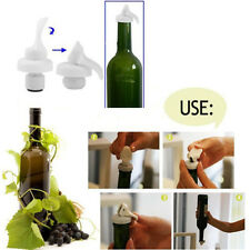 1/3/6/9 PCS Lever Reusable Airtight Wine Bottle Stoppers Cork ER