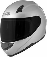 Speed and Strength SS700 Solid Speed Full Face Motorcycle Helmet Silver