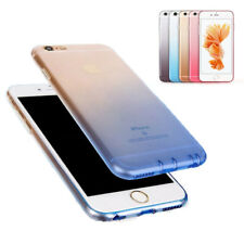 Gradient Dustproof Plug TPU Clear Soft Back Case Cover for iPhone 6 6S 7 Plus