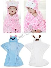 Baby Boys Girls bathrobe Dressing Gown Wrap Bath Hooded Towel Robe Washcloths
