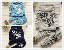 2pcs kids baby boys letter Hooded tops +pants Outfits & set boys autumn clothing