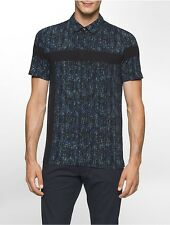 calvin klein mens ck one slim fit abstract dot polo shirt
