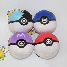 Rarely Pokemon Plush Toy Soft Stuffed Animal Doll Poke Ball Throw Pillow Cushion