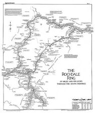 Lockmaster No6 The Rochdale Ring Waterways Canal Map Guide Narrowboat