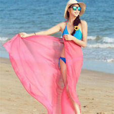 Beautiful Women Sexy Chiffon Wrap Dress Sarong Pareo Beach Bikini Cover Up Scarf