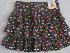 Gymboree Loveable Giraffe 4 Corduroy Skirt Skort New Gray Heart Ruffle Girl