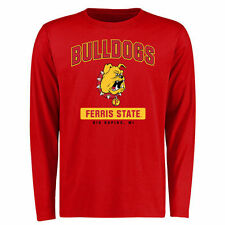 Ferris State Bulldogs Campus Icon Long Sleeve T-Shirt - Red - College