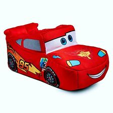 CARS LIGHTNING McQUEEN DISNEY Comfy Red Slippers Toddlers Sz. 9/10 or Boys 11/12