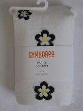 Gymboree Bee Chic Sweater Tights 3-4 5-7 White Black Yellow Flower New Girl