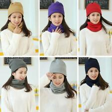 New Womens Mens Unisex Fleece Hat Cap Beanie Warm Skullcap Ski Hat Baggy R3D4