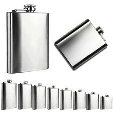 Fashion New Stainless Steel Pocket Hip Flask Alcohol Whiskey Liquor Screw Cap