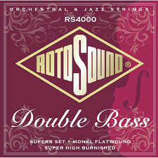 Rotosound RS4000 Monel Flatwound Double Bass Strings. Superb Rockabilly Set !