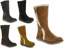 New Rocket Dog Slope Womens Black brown Chestnut Grey Suede Leather Boots