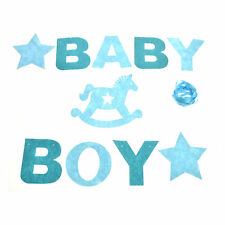 Baby Shower Baby Boy&Girl Bunting Garland Hanging Banner Flags Christening Party