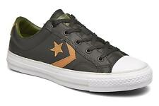 Women's Converse Star Player Cuir Ev W Lace-up Trainers in Black