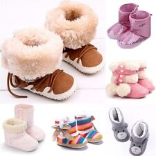 Newborn to 18 Monthts Toddler  Infant Baby Girls Soft Sole Shoes Winter Boots