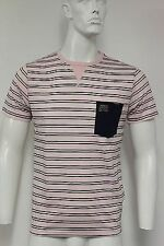 BNWT Mens Duck And Cover Niles Crew Neck Striped T-Shirt, Size S XL