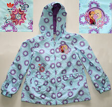 Disney Store FROZEN ELSA ANNA HOODED RAINCOAT Rainwear Jacket Coat girls Size 4