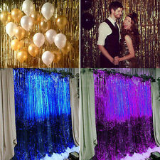 NEW Metallic Fringe Curtain Party Foil Tinsel Room Decor Door Wholesale