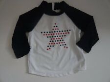 NWT Baby Gap 12-18 18-24 Starry Boy's White Rash Guard Long Sleeve