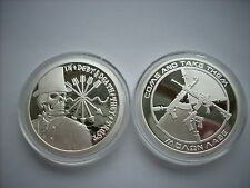 1 OZ SILVER COIN PROOF DOUBLE OBVERSE DEBT AND DEATH-AG-47 ORIGINAL SBSS 1 OUNCE